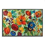 Tangletown Fine Art Summer Floral V por Silvia Vassileva Gallery Wrap Canvas, Naranja / Azul / Verde
