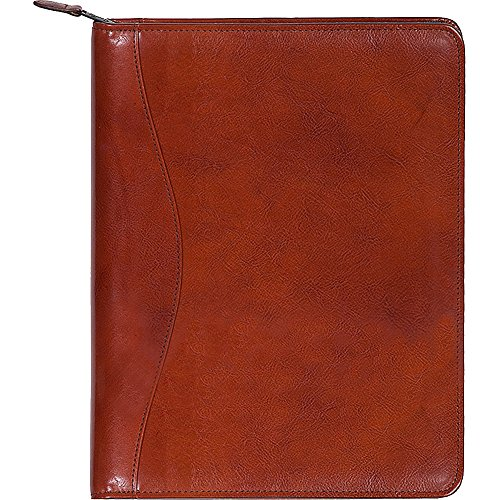 Scully Women's 5014Z Italian Leather Planner Padfolio (Cognac) by Scully