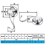 Ninth Five Swivel Swing Magnetic Hooks, 50lb Strong