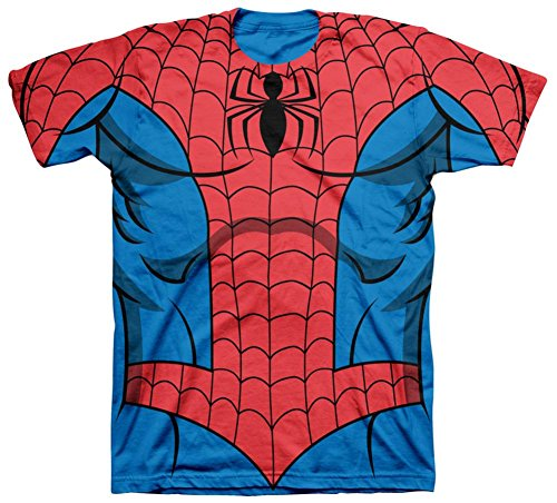 [Spiderman - Costume Tee T-Shirt Size S] (Spiderman Costumes Ideas)