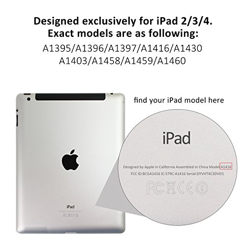 iPad Case, Slim-Fit Smart Cover with Back for iPad 4 / - 0217