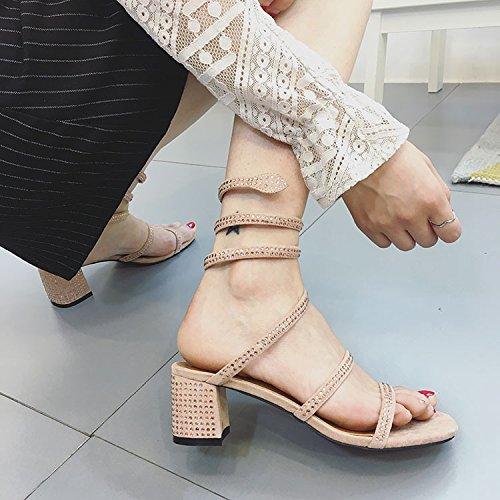 par Zapatos con en de Moda y MsFashion Roma un Zapatos Mujer Rhiners Verano de 36 Mujer de ZHANGJIA 16z0qwq