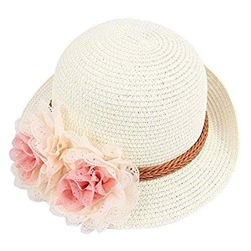 Specials On White Fitted Beach Toddlers Sun Hats for Kids Girls Free Size (2-7 Years Old) Tkmiss from Unknown