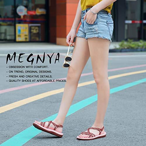 e3796e52601d1 QLEYO Women's Comfortable Flat Walking Sandals with Arch Support Waterproof  for Walking/Hiking/Travel/Wedding/Water Spot/Beach.18ZDKDQL01-W1-9 BD