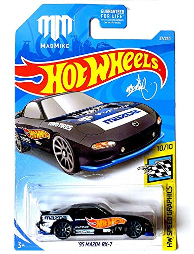 Hot Wheels 2019 MAD Mike HW Speed Graphics - '95 Mazda RX-7
