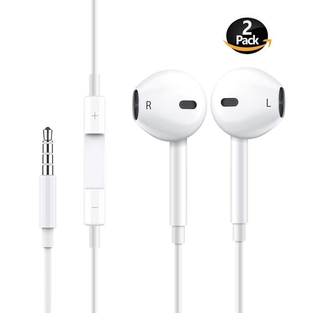 Iphone 7 Headphones,Ultra high definition sound quality iphone Earphones with Microphone Headphones Stereo Headphones and Soundproof Headphones for Apple iPhone iPad and Android(white) by YEFOOT