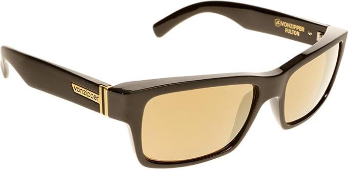 Vonzipper Herren Sonnenbrille Fulton Shades Black Satin KCgb58P