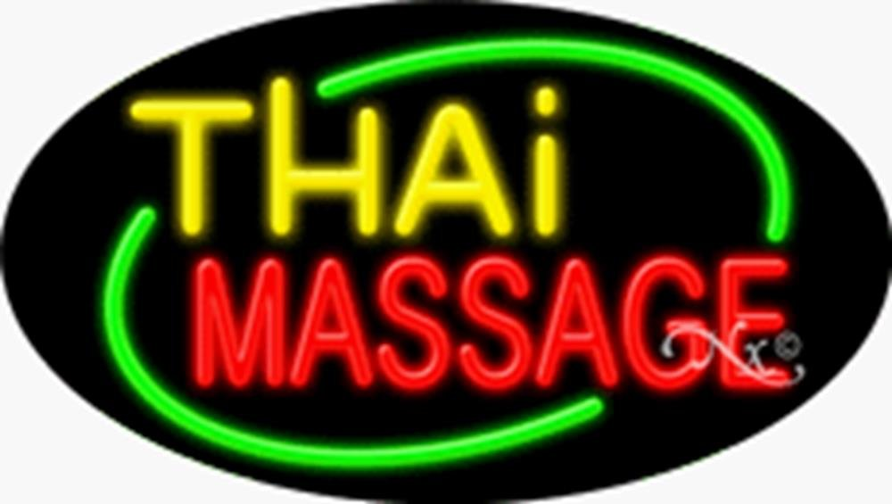 17x30x3 inches Thai Massage Flashing ON/OFF NEON Advertising Window Sign by Light Master