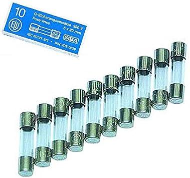 10 Sicherungen 6,3 x 32 Flink Feinsicherungen. 5 A Glassicherungen