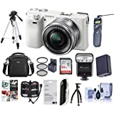 Sony Alpha A6000 Camera Bundle with 16-50 Lens. Value Kit with Accessories