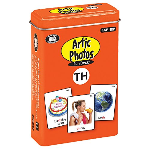 Super Duper Publications Articulation Photos TH Fun Deck Flash Cards - Revised Photos Educational Learning Resource for Children (Th Photo Of)
