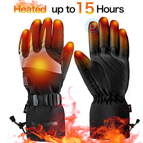 Heated gloves for Men Women,Electric heated gloves Heated motorcycle gloves  Heated Ski Gloves (Best Heated Motorcycle Gloves 2019)