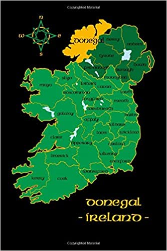 Map Of Ireland By County.Donegal Ireland County Map Irish Travel Journal Republic Of Ireland