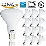 12 PACK - BR30 LED 11WATT (65W Equivalent), 3000K Warm White, DIMMABLE, Indoor/Outdoor Lighting, 850 Lumens, Flood Light Bulb, UL & ENERGY STAR LISTED