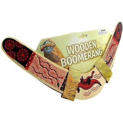 Rhode Island Novelty Wooden Boomerang Colors May Vary (Boomerang Wood)