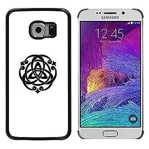 LECELL--Funda protectora / Cubierta / Piel For Samsung Galaxy S6 EDGE SM-G925 -- Spiritual Geometry Symbol Art --