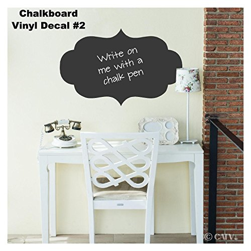 Chalkboard Decorative Frames Vinyl Lettering Wall Decal Stickers (Style B: 32