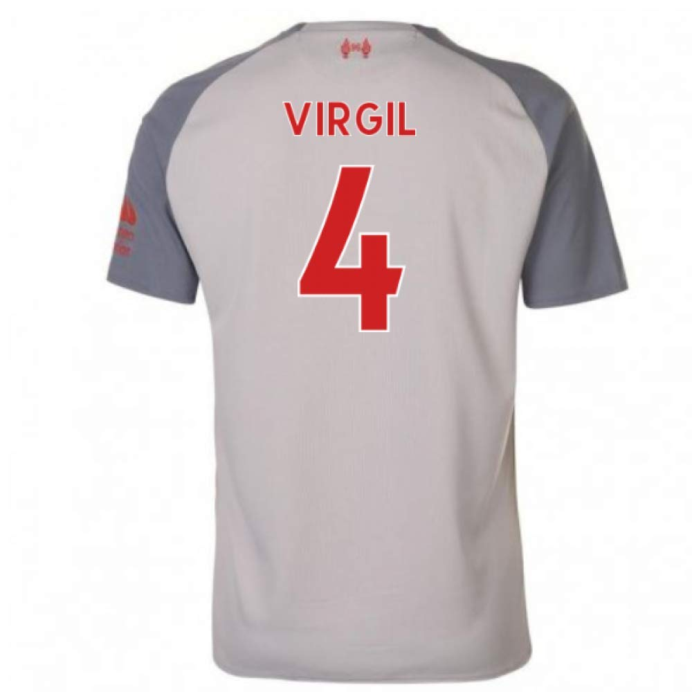 2018-2019 Liverpool Third Football Soccer T-Shirt Trikot (Virgil Van Dijk 4)