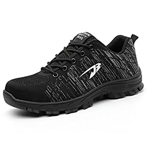 TICCOON Work Steel Toe Shoes Safety Shoes for Men and Women Lightweight Industrial & Construction Shoe