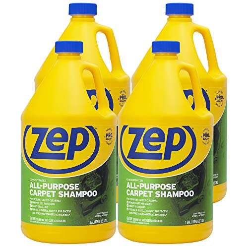 - ZEP All-Purpose Carpet Shampoo Concentrate 128 ounce ZUCEC128 (Case of 4)