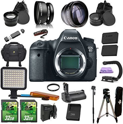 Canon EOS 6D (Body Only). PagingZone Kit Includes, - Canon Af Extension Tube