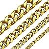 Best Epic Trends 510c4u9v9%2BL._SS100_ ChainsHouse Cuban Link Chain Necklace for Men Women, 3mm/5mm/6mm/9mm/12mm/15mm Width, 14/18/20/22/24/26/28/30inch Length…
