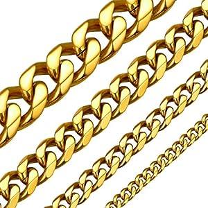 Best Epic Trends 510c4u9v9%2BL._SS300_ ChainsHouse Cuban Link Chain Necklace for Men Women, 3mm/5mm/6mm/9mm/12mm/15mm Width, 14/18/20/22/24/26/28/30inch Length…
