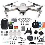 DJI Mavic Pro Platinum Fly More Combo Collapsible Quadcopter Drone Bundle, Additional SD Card, 2 Extra Battery, Landing Kit and More