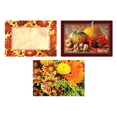 Hoffmaster 702081 Multipack Placemats, Autumn Days, 9-3/4
