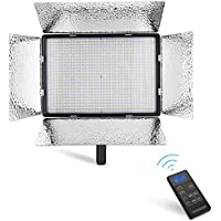 Powerextra 900 Beads Bi-Color CRI 96+ 70W Dimmable LED Video Light Panel, 2.4G Remote Control, Adjustable Color Temperature 3200K-5500K for Canon Nikon Sony Samsung Others DSLR Camera Camcorder