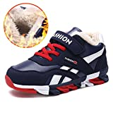 Veribuy Little/Big Boys Running Shoes Wearable Non-slip Cotton Sneakers For Winter