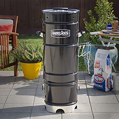 Barrel House Cooker 14D Wood & Charcoal Smoker with Hang-it & Forget-it Simplicity, Modular Versatility - Smoke, Grill, Sear, Bake, BBQ by Barrel House