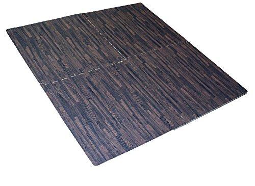 Helios 4 Piece Cushioned Floor Mats Ash Wood Color Flooring D6400