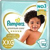 Fralda Pampers Premium Care Pacote Mensal, XXG, 112 unidades
