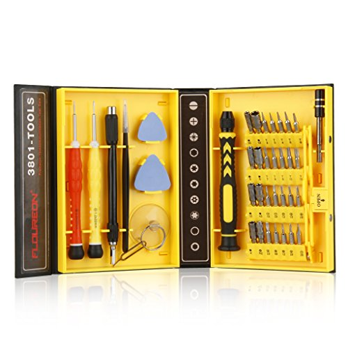 Floureon 38-piece Precision Screwdriver Set Repair Tool Kit for iPad,iPhone,PC,Watch,Samsung and Other Smartphone Tablet Computer Electronic Devices Computer Repair Pc Notebook