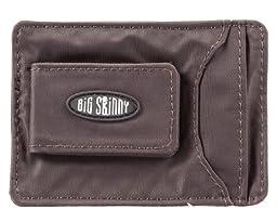 Big Skinny Men\'s Magnetic Money Clip Slim Wallet, Holds Up to 12 Cards, Brown