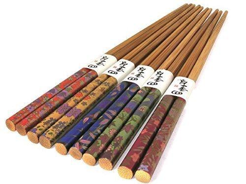 JapanBargain Brand Japanese Chopsticks Flower and Leaves (Design Chopsticks)