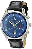 Lucien Piccard Men's LP-11187-03 Navona Stainless Steel Watch with Black Leather Band