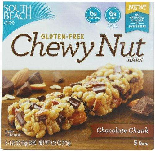 South Beach Diet gluten Chewy gratuit Nut Bar, morceaux de chocolat, 1,23 once, 5 comte