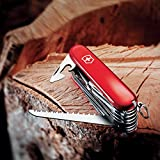 Victorinox Swiss Army Multi-Tool, SwissChamp Pocket Knife, Red, 91 mm