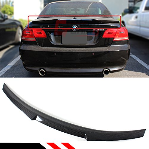 Cuztom Tuning Fits for 2007-2013 BMW E93 335i 328i M3 2 Door Convertible Carbon Fiber Trunk Lid Spoiler Wing - M4 Style ()