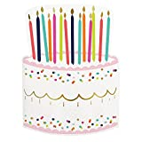 Birthday Party Supplies Paper Napkins Kids Adults 6 x 9 Inches Die Cut Cake Pk 40