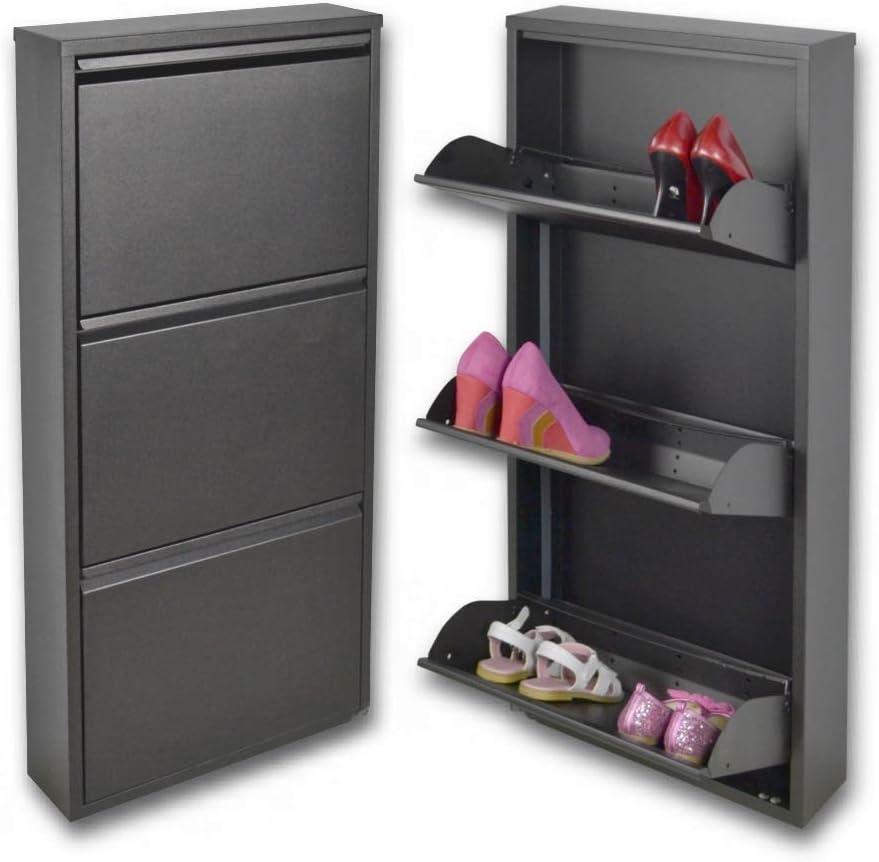 Slim magik 3 puertas abatibles en color gris oscuro