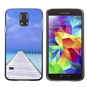 PC/Aluminum Funda Carcasa protectora para Samsung Galaxy S5 SM-G900 Nature Beatiful Carribean Bach / JUSTGO PHONE PROTECTOR