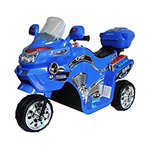 Ride on Toy, 3 Wheel Motorcycle for Kids, Battery Powered Ride On Toy by Lil' Rider – Ride on Toys for Boys and Girls, 2 - 5 Year Old - Blue FX
