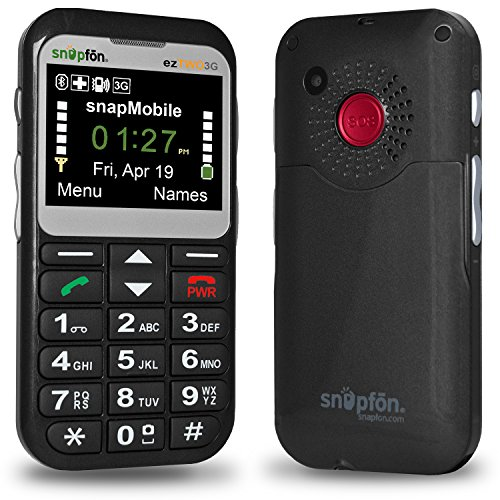 Loud Cell Phone (Snapfon ezTWO Senior Unlocked GSM Cell Phone, SOS Button, Hearing Aid)