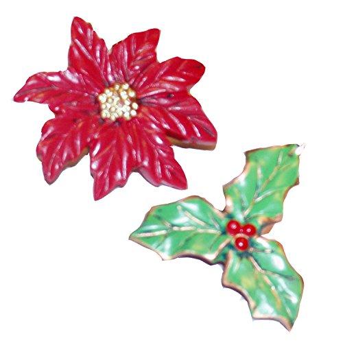 Poinsettia Resin Holiday Shower Curtain Hook