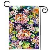 """Fall Hydrangea by Kathleen Parr McKenna Decorative 13"""" x 18"""" Premium Garden Banner Flag"""