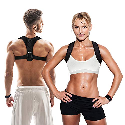 Copper Compression Under Clothes Posture Corrector - Guaranteed Highest Copper Posture Support Back Brace for Men and Women. Lightweight Adjustable Fit Supports Upper Back for Correct Posture