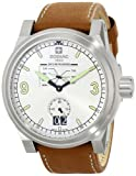 Zodiac ZMX Men's ZO8564 Aviator Stainless Steel Watch with Brown Genuine Leather Band